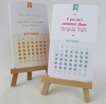 imprenta calendario de mesa