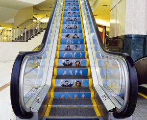 floorgraphic en escalera